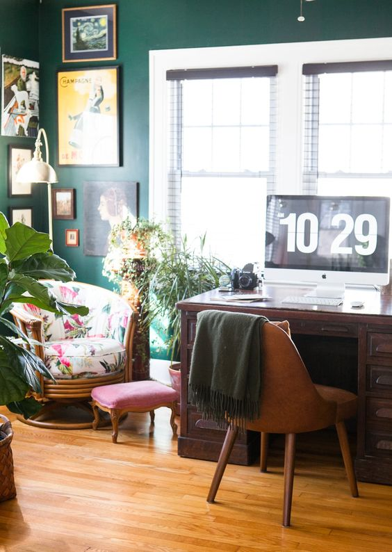 Eclectic office home design
