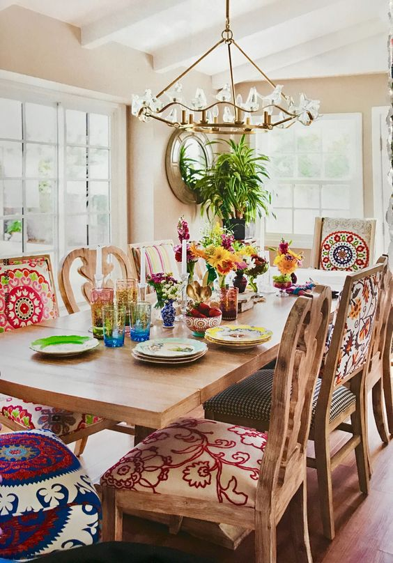 Mexican dining room design