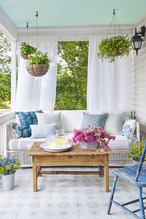 Eclectic exterior furniture selection