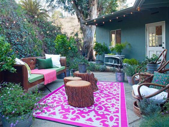 Natural backyard furniture