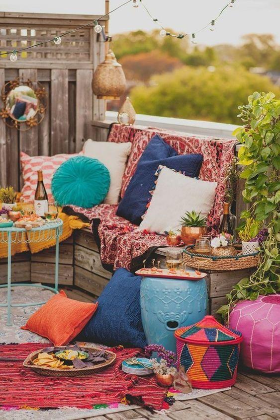 Eclectic exterior furniture outdoor