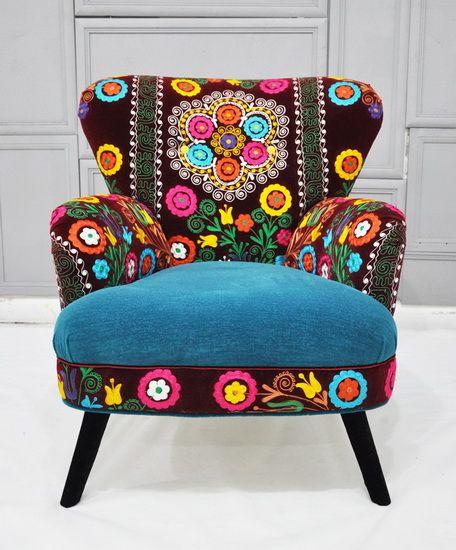 Floral single sofa