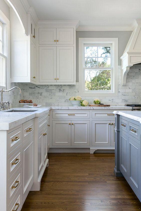 A white kitchen cabinet