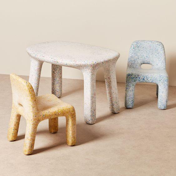 Eco-friendly furniture in plastic