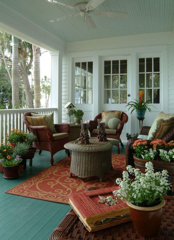 Comfortable front porch