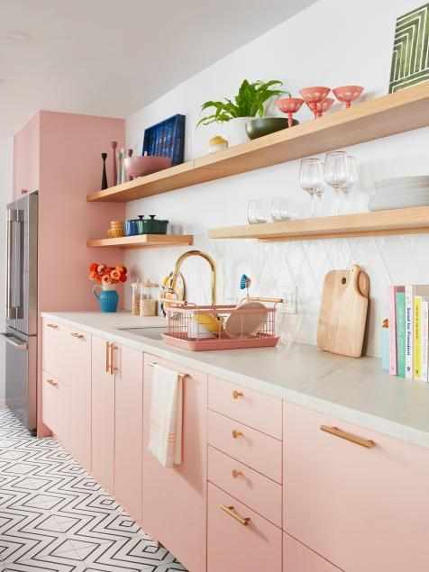 We can add a pink cabinet