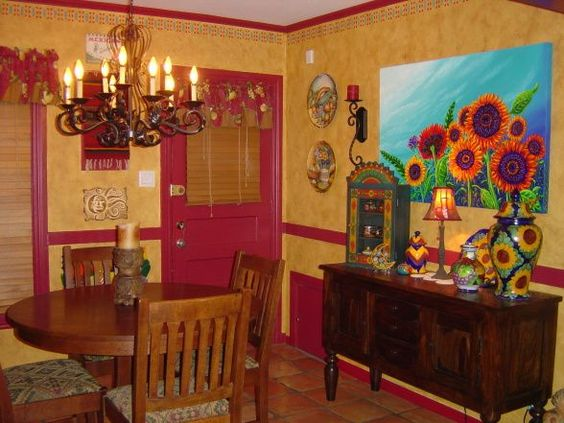 Mexican-themed dining room