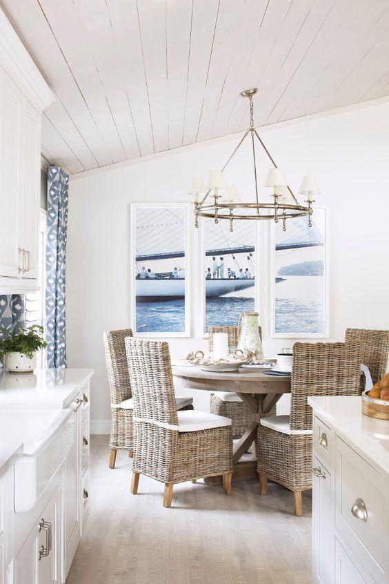 Modern coastal nautical dining room ideas
