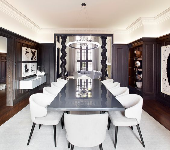 Modern gothic dining table and chairs recommendations