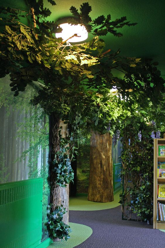 Enchanted fairy forest interior style