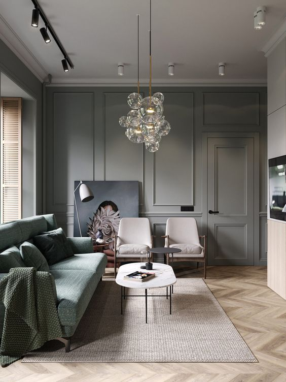 Light grey contemporary modern gothic design