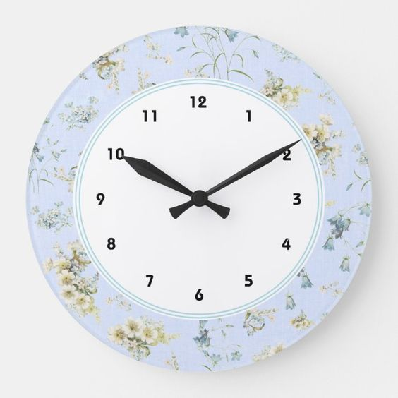 Shabby chic large clocks with blue pastel