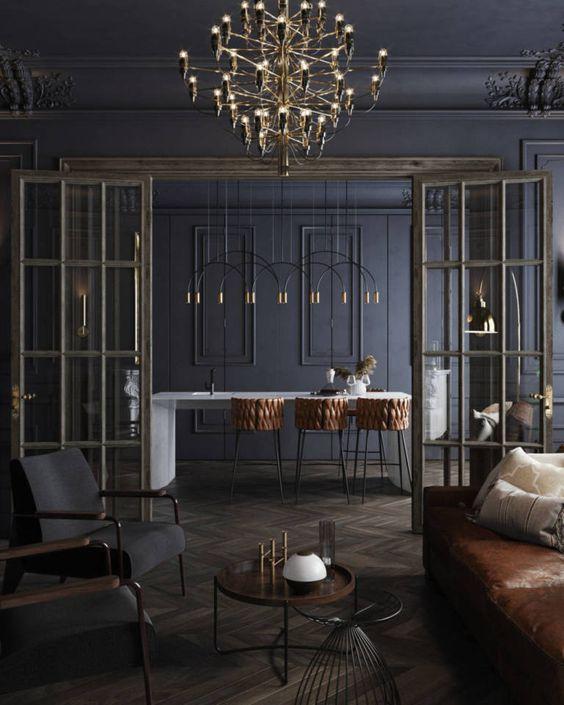 Contemporary modern gothic interior style ideas