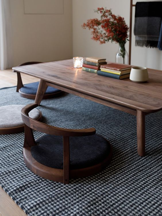 Japanese dining table set for dining room