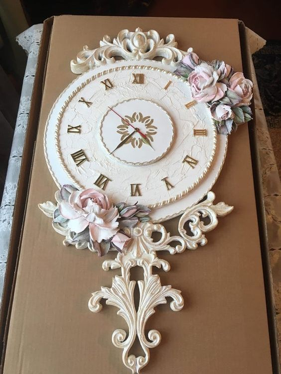 Shabby chic large clocks recommendations to create vintage accent