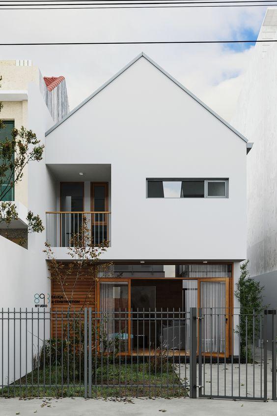 Japanese white home exterior