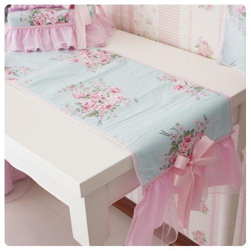 Rectangular shabby chic tablecloth