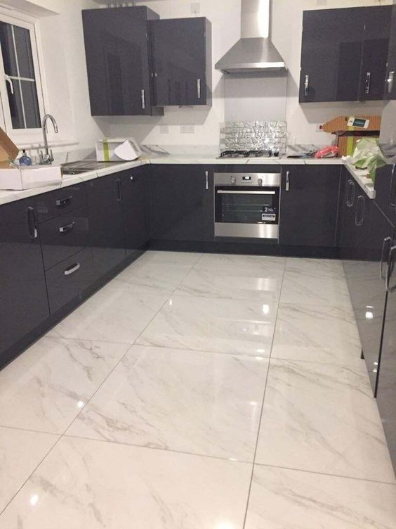 Marble accent modern Victorian tiles