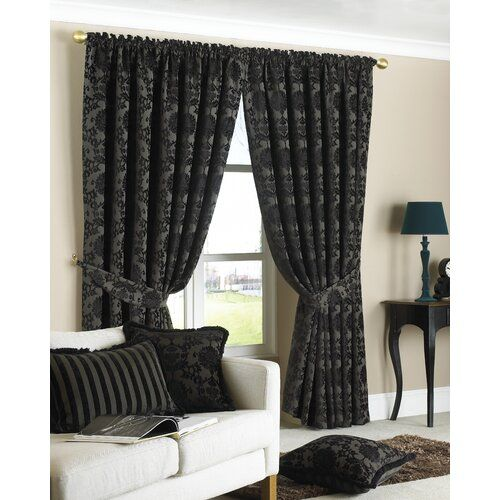 Modern gothic black curtain recommendations