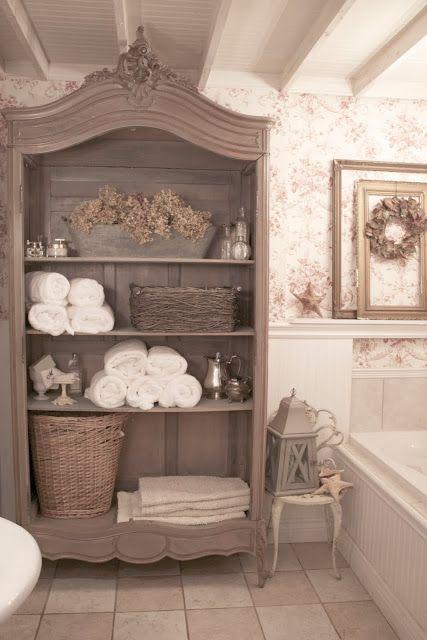 Shabby chic bathroom storage recommendations