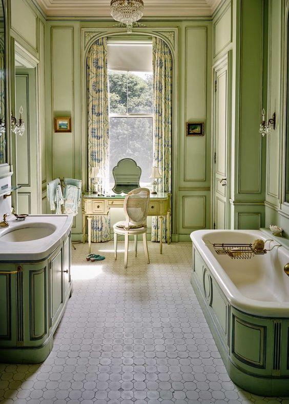 Modern authentic Victorian bathroom style