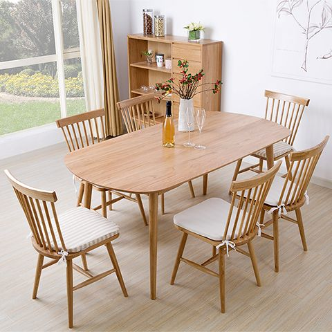 Basic wooden tables and chairs for Japanese dining room