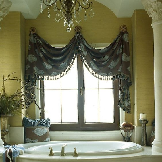 Modern Victorian window bathroom curtains recommendations
