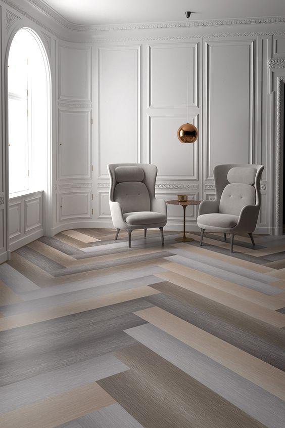 Dark color combination of vinyl flooring design