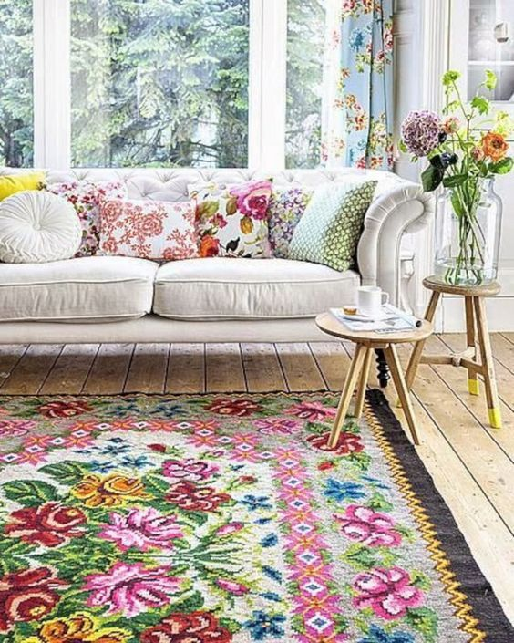 5 shabby chic decorative rug for decorations