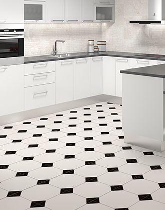 White and Black pattern ceramic tiles