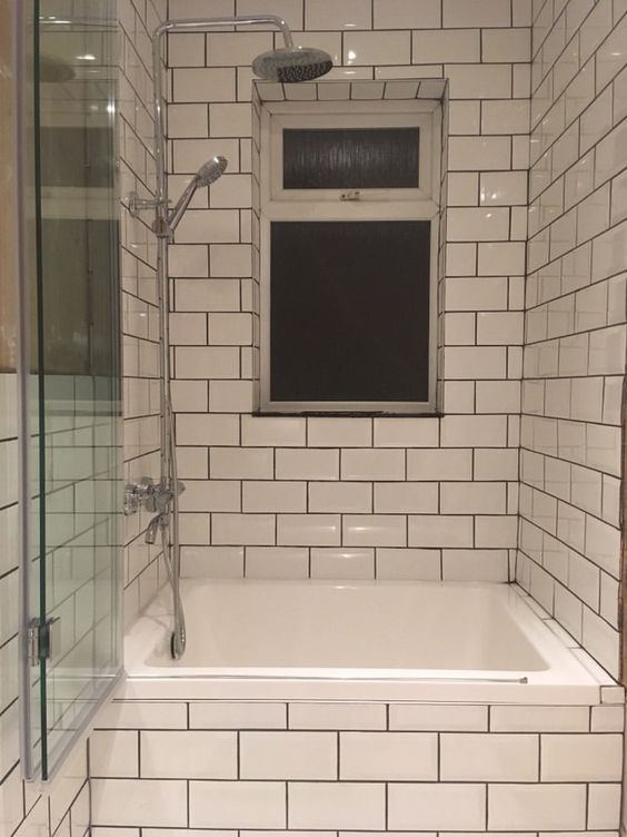 A bathtub in the modern Japanese bathroom
