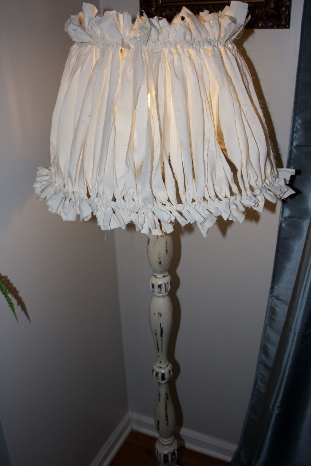 Shabby chic lampshades with beige color