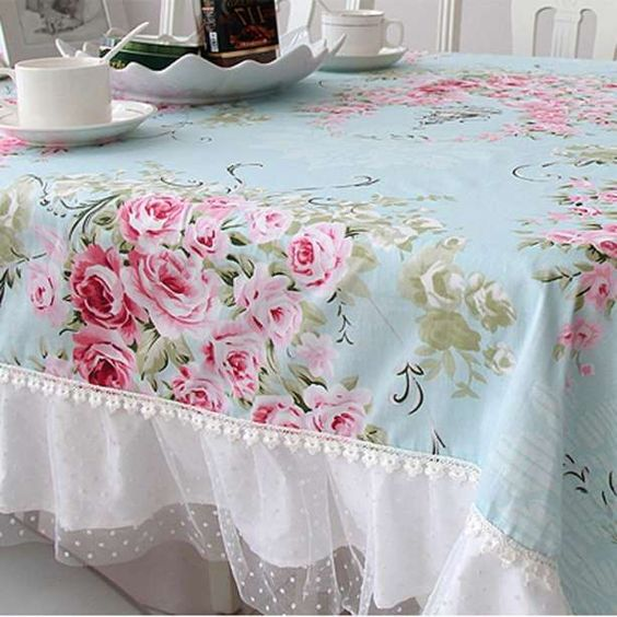 French country shabby chic tablecloth