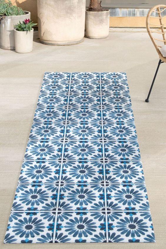 Shabby chic pattern vinyl flooring