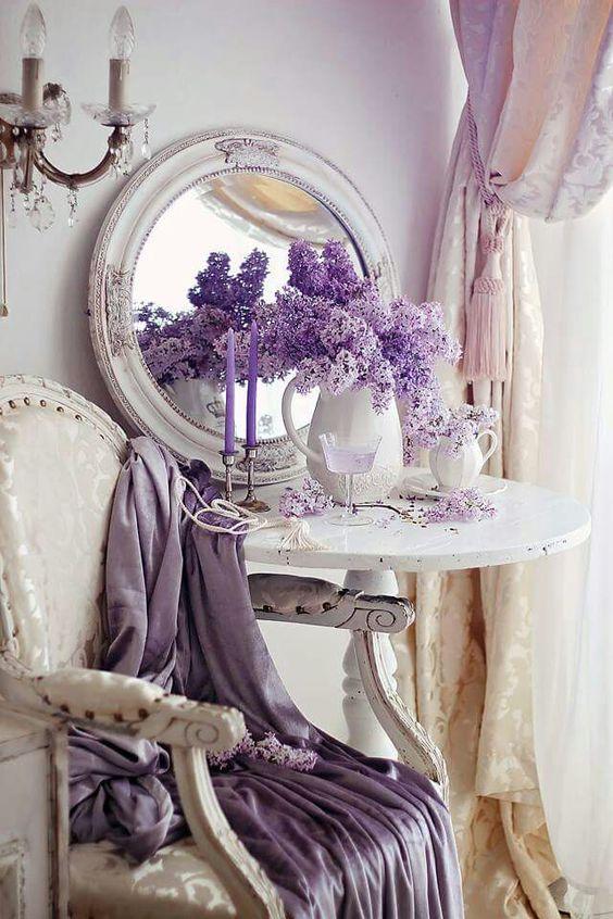 Cheerful impression in Shabby chic interior design