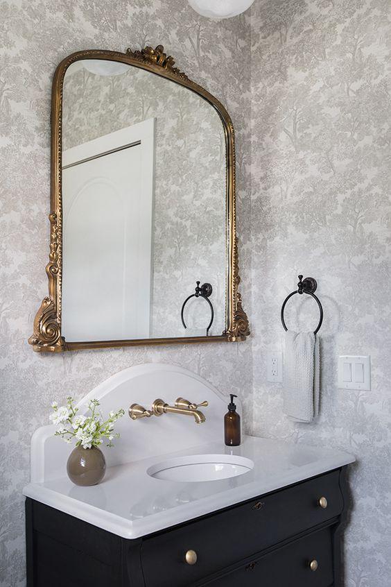 Modern gothic bathroom mirror recommendations