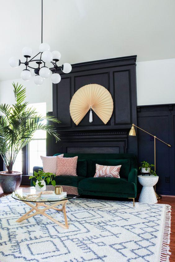 Modern gothic interior design living room ideas
