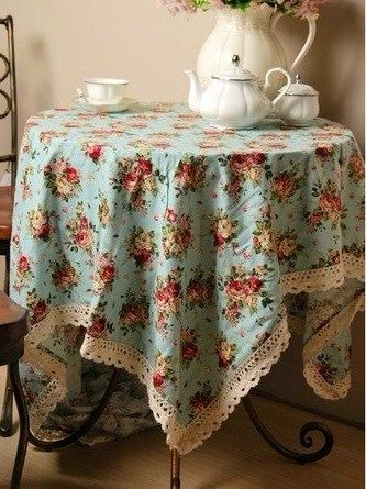 Shabby chic French country tablecloth