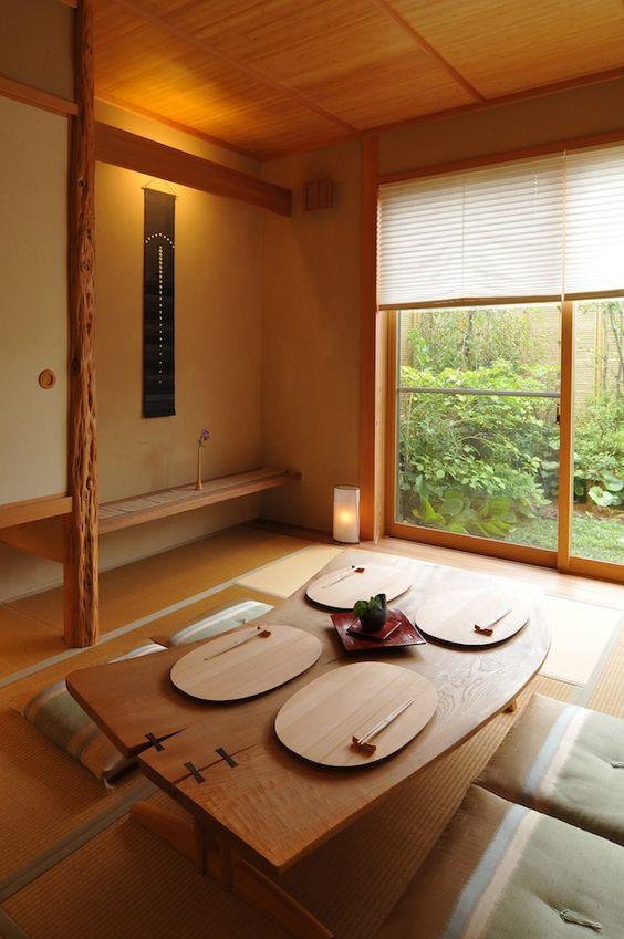 Japanese living room seating arrangement