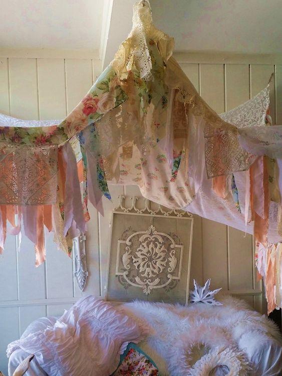Shabby chic DIY curtains