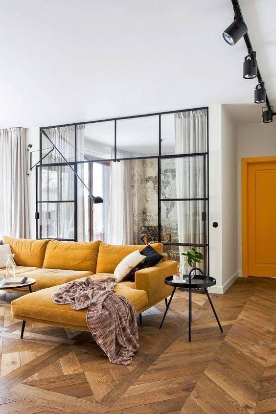 Beautiful neutral colors Scandinavian sofa