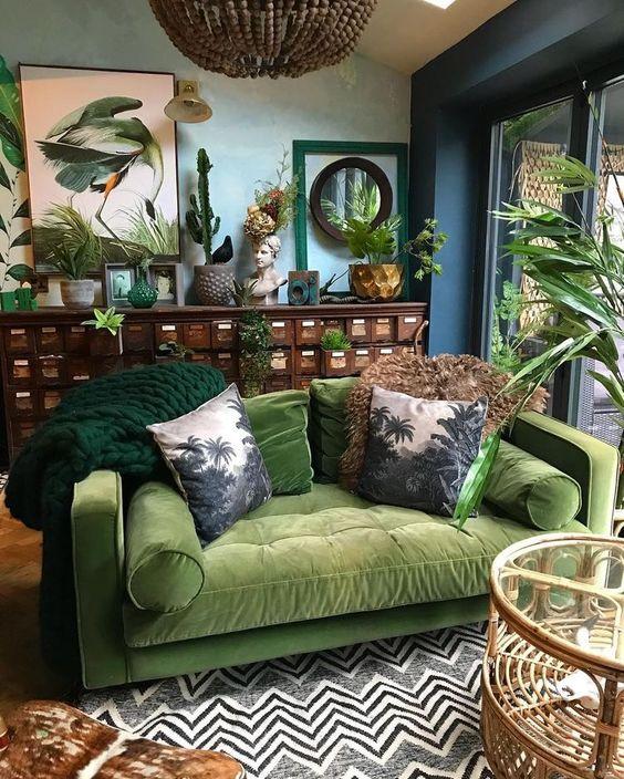 Tropical green color design concept ideas