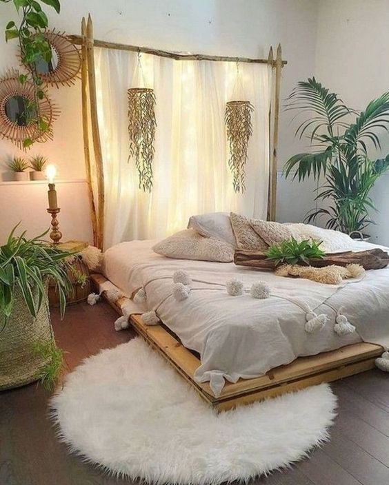 Simple decorations tropical bedroom