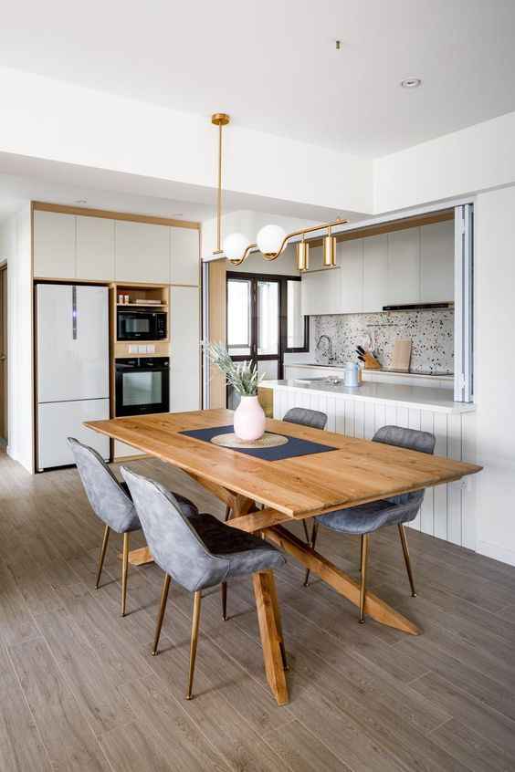 Minimalist versatile Scandinavian dining room design ideas