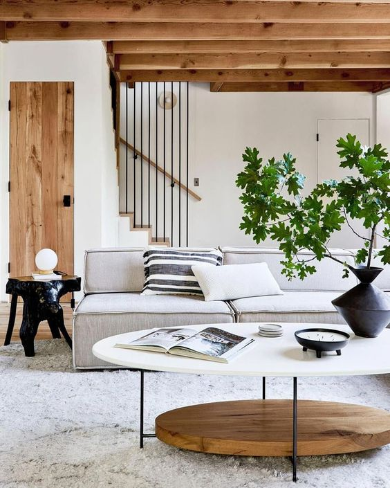 Scandinavian white and brown homes
