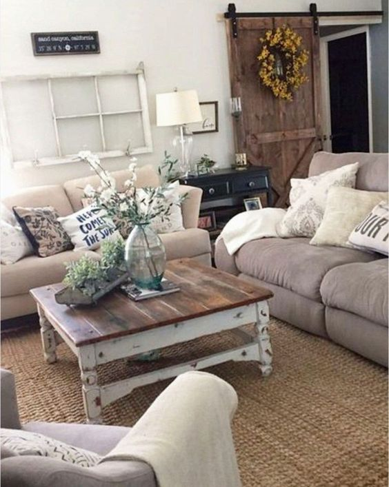 Rustic living room with a comfortable impression