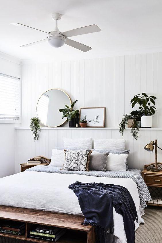 Modern Scandinavian bedroom interior style combination