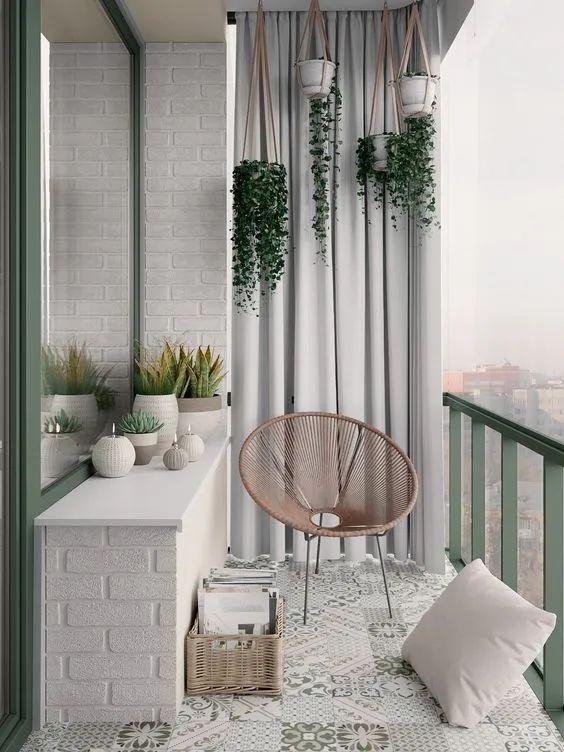 Scandinavian balcony decorating ideas