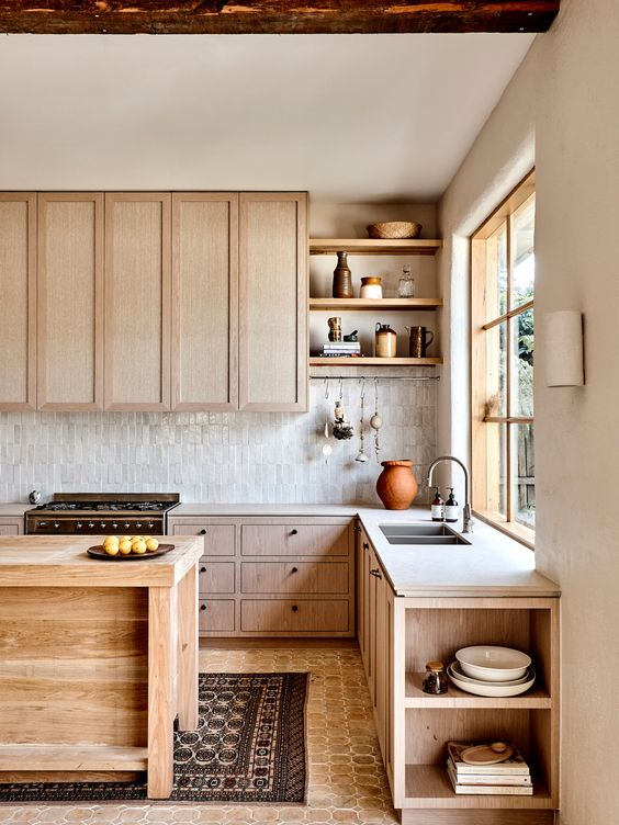 Fascinating Scandinavian kitchen cabinet to create a unique impression