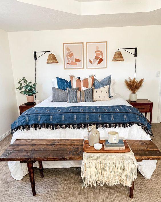 Vintage Scandinavian combination in the bedroom